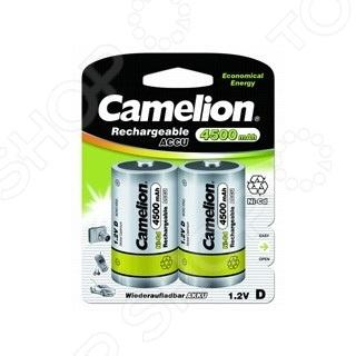 Набор батареек аккумуляторных Camelion D-4500mAh Ni-Cd BL-2 camelion aaa 1000mah ni mh bl 2 nh aaa1000bp2 аккумулятор 1 2в 2 шт