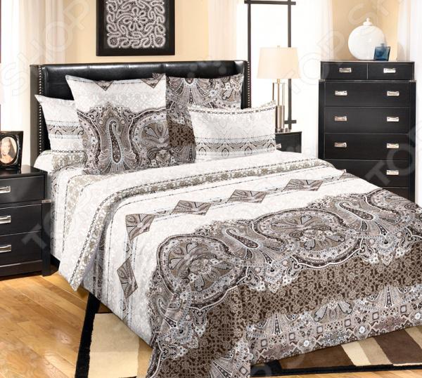 цена Комплект постельного белья Королевское Искушение «Белла». Тип ткани: сатин онлайн в 2017 году