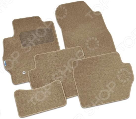 Комплект ковриков в салон автомобиля Autofamily Infiniti JX 2012 кроссовер. Цвет: бежевый