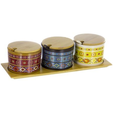 Купить Набор банок для сыпучих продуктов Elrington «Кумар Тули»