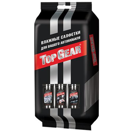 Купить Набор влажных салфеток Top Gear для автомобиля