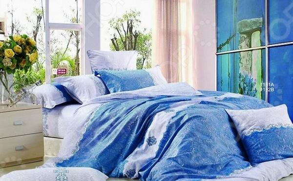 Комплект постельного белья «Голубое кружево». 1,5-спальный мар текс