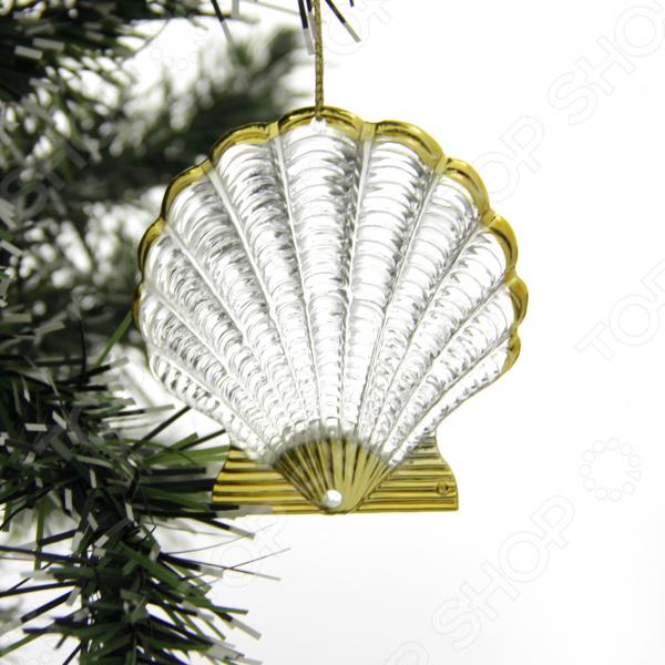 Елочное украшение со светодиодами Елочное украшение Crystal Deco «Ракушка»