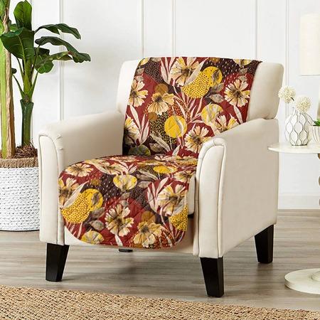 Купить Универсальная накидка «Уютный дом» на кресло. Цвет: бордовый