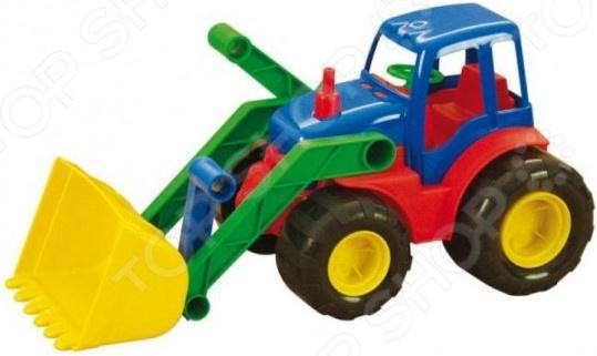Трактор игрушечный Zebratoys Active с ковшом трактор zebratoys active с ковшом 17 см разноцветный 15 5224