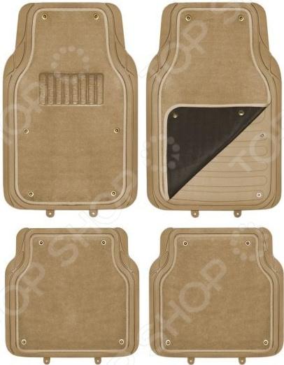 Комплект из 4-х ковриков в салон автомобиля со съемным ковролином SKYWAY Cold-1
