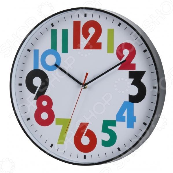 Часы настенные Mitya Veselkov «Толстые разноцветные цифры» mitya veselkov часы настенные серебристые цифры на розовом 20 см nast232
