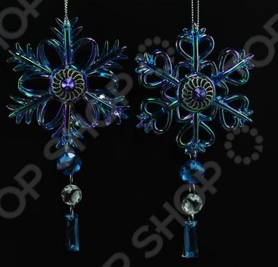 Новогоднее украшение Crystal Deco «Снежинка». В ассортименте
