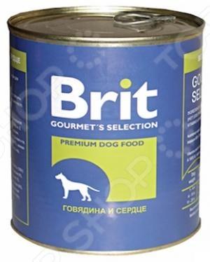 Корм консервированный для собак Brit «Говядина и сердце» минеральные добавки серии северянка в москве