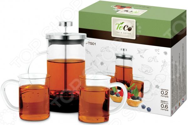 Френч-пресс с набором чашек Teco TC-TS01 Teco - артикул: 1750040