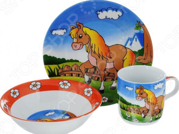 Набор посуды для детей «Лошадка»