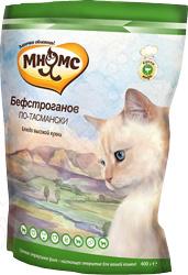 Корм сухой для кошек Мнямс «Бефстроганов по-тасмански» с мясом страуса