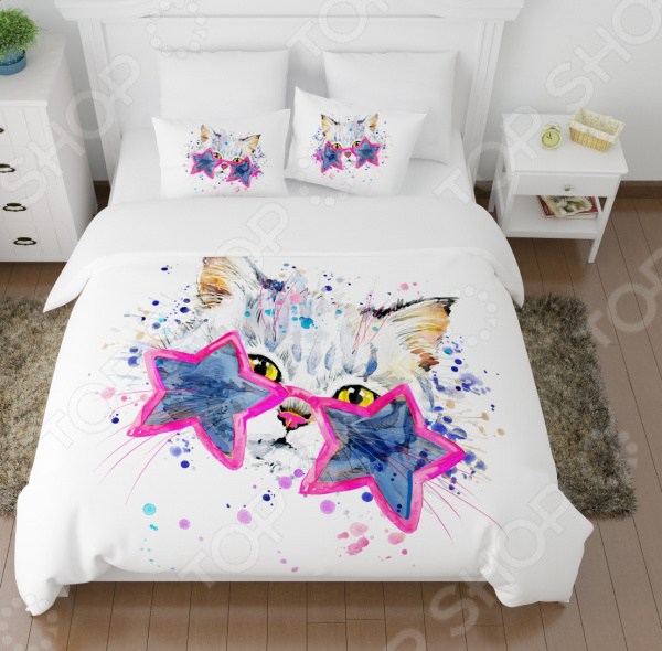 Комплект постельного белья Сирень «Звездный кот» бра favourite kerzen 1519 1w