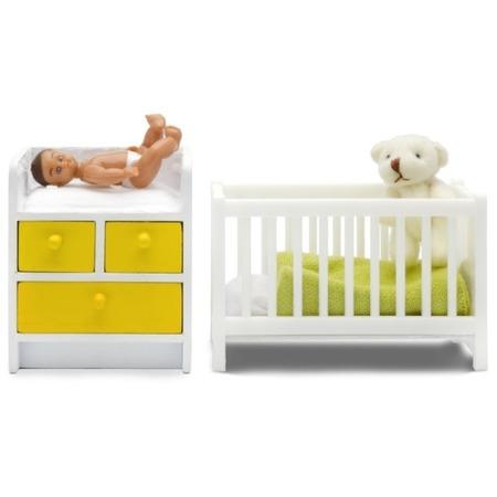 Купить Мебель для куклы Lundby «Стокгольм. Кровать с пеленальным комодом»