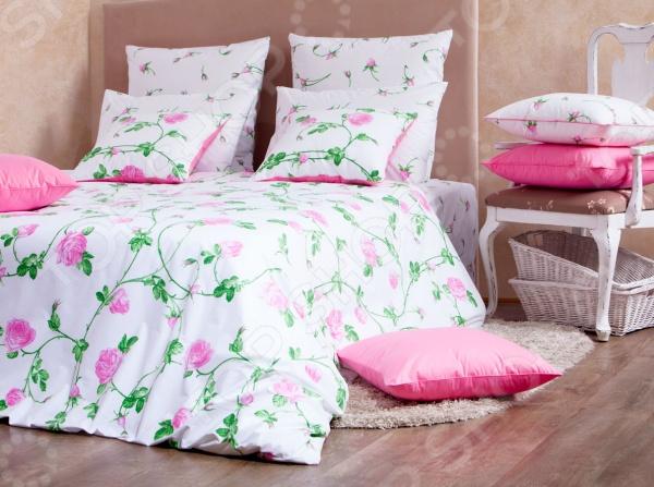 Комплект постельного белья MIRAROSSI Vittoria pink комплект белья mirarossi domenica семейный наволочки 70х70 цвет белый коралловый зеленый