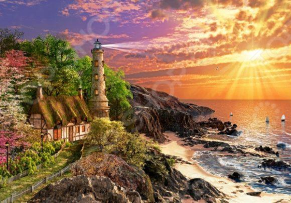 Пазл 500 элементов Castorland «Дом на побережье»