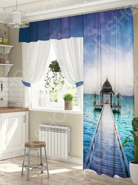 фото Комплект штор для окна с балконом ТамиТекс «Спектр», Шторы для окна с балконом