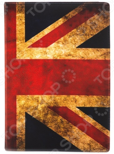 Обложка для паспорта кожаная Mitya Veselkov «Потертый британский флаг»