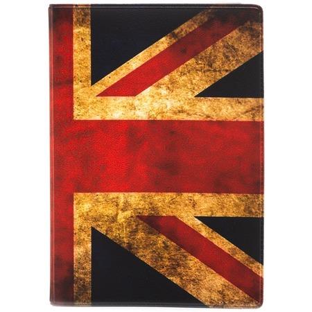 Купить Обложка для паспорта кожаная Mitya Veselkov «Потертый британский флаг»