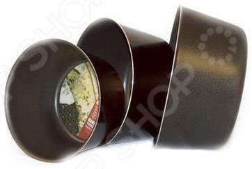 Форма для выпечки Flonal Black&Silver круглая форма для выпечки металлическая flonal long life