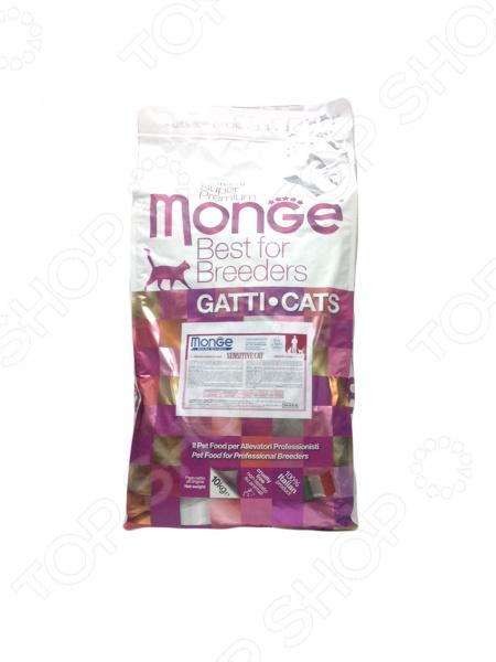 Корм сухой диетический для кошек Monge Natural Superpremium Sensitive Cat