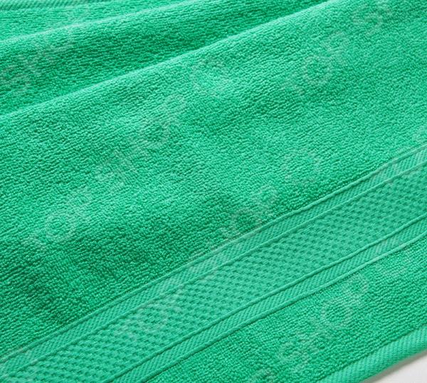 Zakazat.ru: Полотенце махровое Uztex с бордюром. Цвет: зеленый
