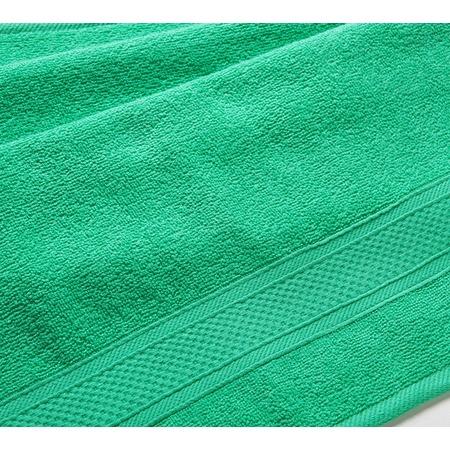 Купить Полотенце махровое Uztex с бордюром. Цвет: зеленый