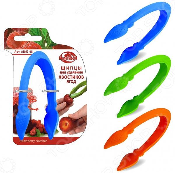 Щипцы для удаления хвостиков ягод Мультидом AN53-98. В ассортименте нож для удаления сердцевины у ягод мультидом j53 95 в ассортименте
