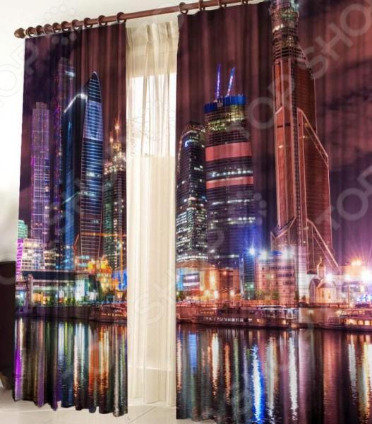 Фотошторы ТамиТекс «Москва-Сити» жилые дома минск сити от застройщика