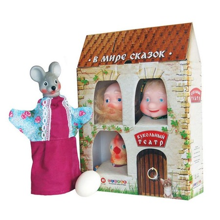 Купить Набор для кукольного театра Огонек «Курочка Ряба»