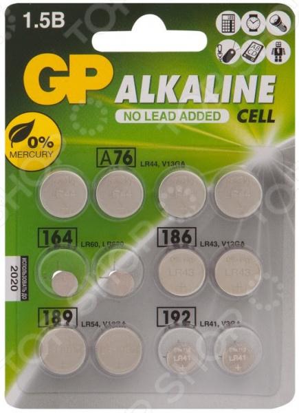 Набор батареек-таблеток щелочных GP Batteries ACM01