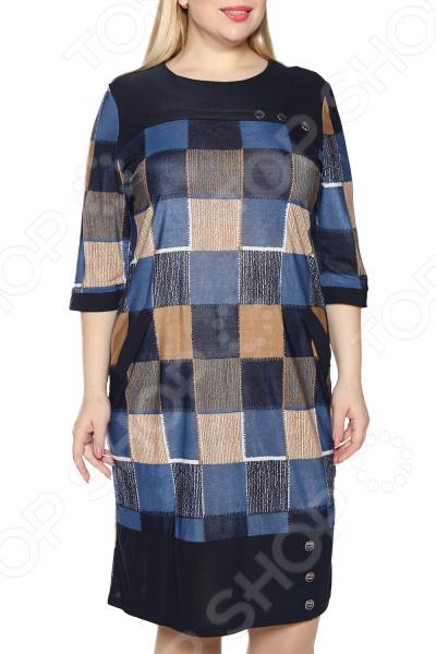 Платье NOVA STYLE «Любящее сердце». Цвет: синий