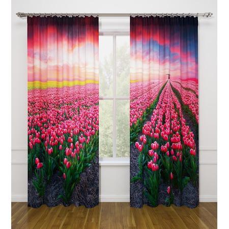 Купить Фотошторы Стильный дом «Поле тюльпанов»
