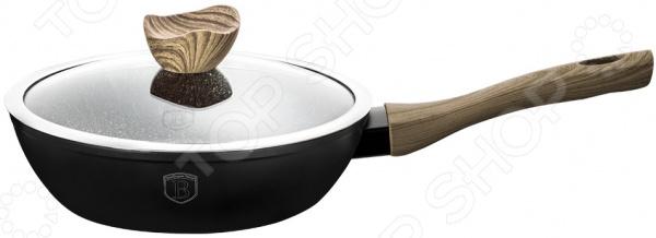 Сковорода с крышкой Berlinger Haus Forest «Светлое дерево» сковорода berlinger haus ebony rosewood