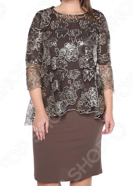 Платье Blagof «Царские узоры». Цвет: кофейный