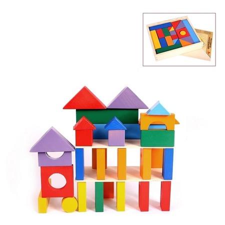 Купить Конструктор деревянный PAREMO «Кубики макси» в деревянном ящике