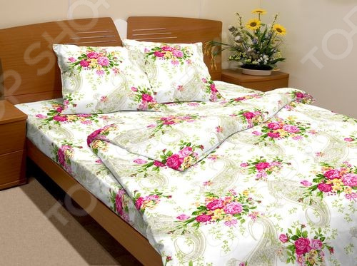 Комплект постельного белья Fiorelly «Французские букетики» 3137. 1,5-спальный