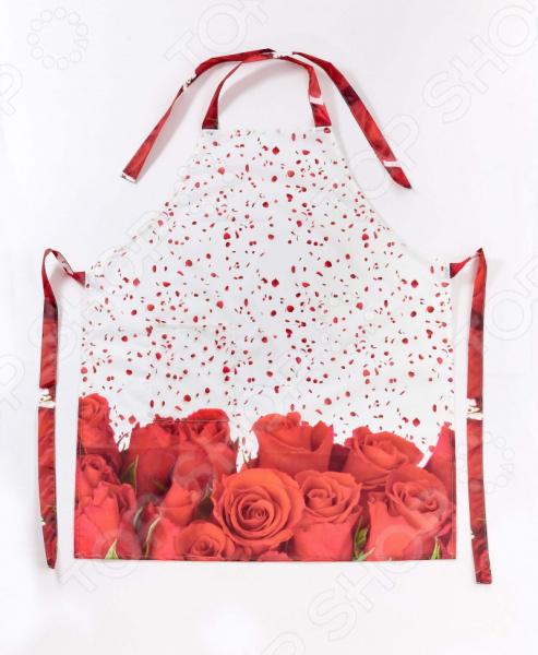Фартук Сирень «Лепестки красной розы»