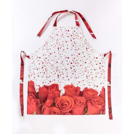 Купить Фартук Сирень «Лепестки красной розы»