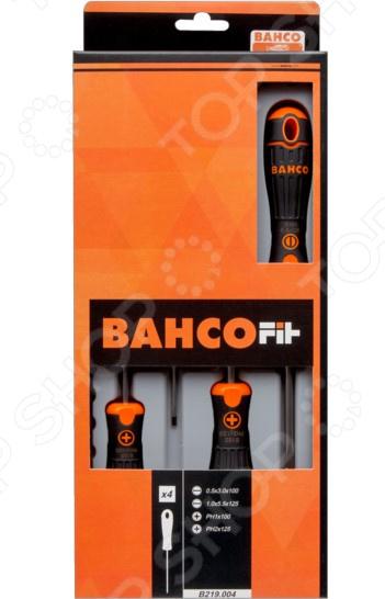 Набор отверток Bahco Fit B219.004 шило bahco fit 6 0x 100 b 145 006 10