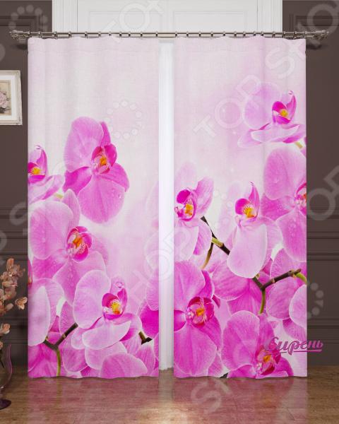 Фотошторы Сирень «Сиреневая орхидея»