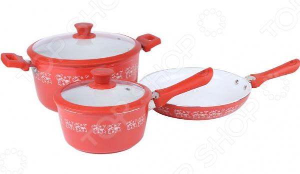 Набор посуды для готовки Pomi d'Oro Primavera Fiori Set