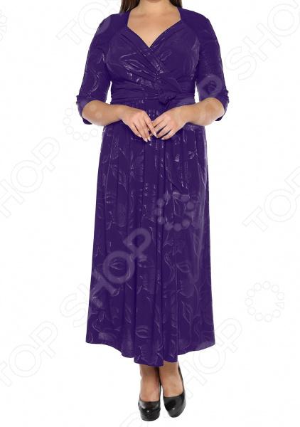 Платье VEAS «Модный показ». Цвет: фиолетовый