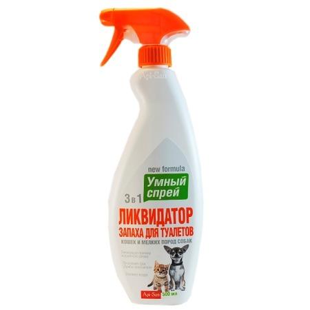 Ликвидатор запаха для туалетов кошек и мелких пород собак Api-San «Умный спрей» 40399