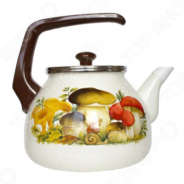 все цены на Чайник эмалированный Interos 15251 «Грибы» онлайн