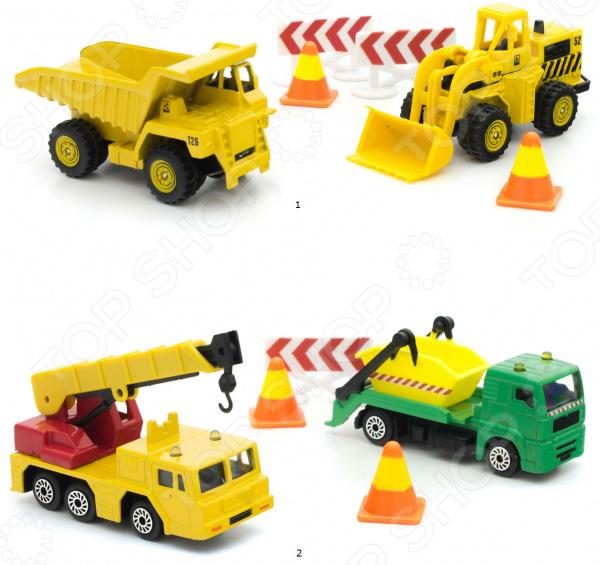Набор машинок игрушечных HTI «Большие строители». В ассортименте
