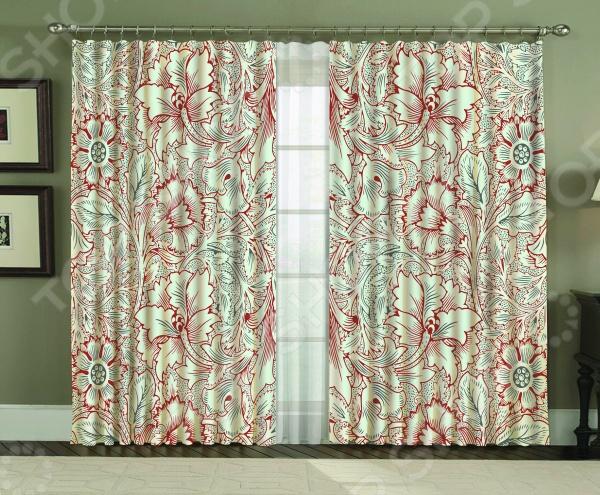 Комплект фотоштор МарТекс Орна Ред настоящее украшение домашнего интерьера, которое поможет вам по-новому взглянуть на такое привычное явление, как оконный текстиль. Изделия изготовлены из высококачественной ткани габардин этот материал отличается достаточной плотностью, легкостью и приятной матовой поверхностью. Габардин прекрасно принимает любую форму, поэтому на окнах он будет смотреться изящно и грациозно. Несомненно, наличие штор и тюля в квартире очень важно, ведь именно они формируют общее впечатление о помещении и создают в нем столь необходимый уют и комфорт. К тому же, текстиль на окнах носит не только декоративный характер, но и ограждает нас от шумного и суматошного внешнего мира. Благодаря спокойной приятной расцветке комплекта вы можете украсить им гостиную, спальню, кухню, детскую комнату и пр. Он, в любом случае, прекрасно подстроится под цветовую гамму и стиль интерьера. Представленные в комплекте шторы и тюль можно использовать вместе или по отдельности все зависит от ваших пожеланий и стилистики помещения.