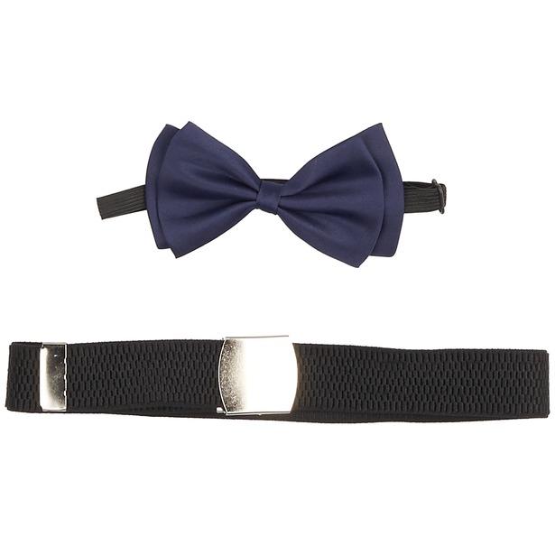 фото Набор: галстук-бабочка и ремень Stilmark Belt & BowTie. Цвет: темно-синий, черный