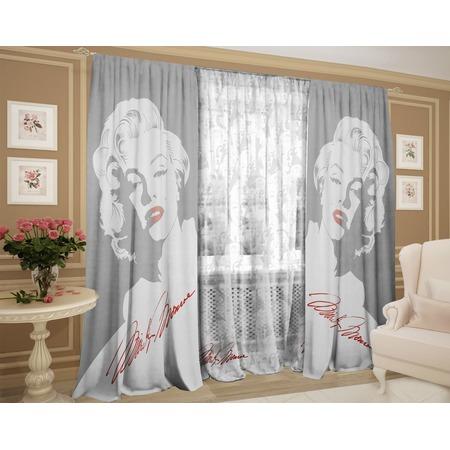 Фотокомплект: тюль и шторы ТамиТекс «Монро»
