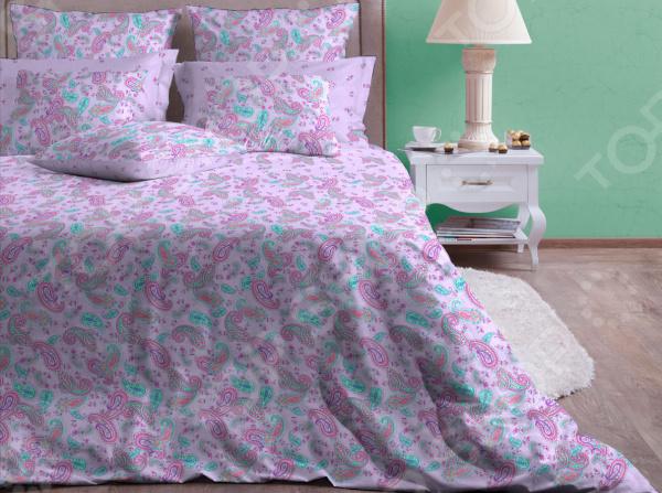 Комплект постельного белья Хлопковый Край «Ясмин». Цвет: лавандовый. Евро Хлопковый Край - артикул: 1579616